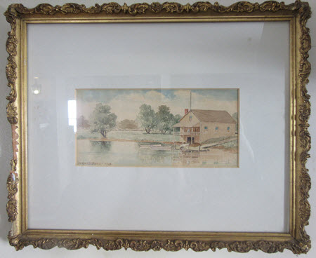 Watercolor miniature by Birdsall D. Paine