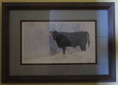 Cow Print (watercolor) by Geneva Welch
